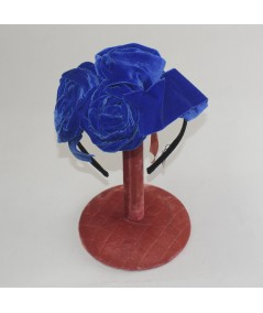 Royal Velvet Ribbon Rose Trimmed Headband