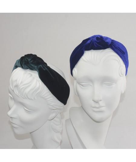 Royal Teal Velvet Harlow Turban Headband