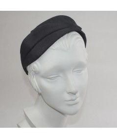 Black Bengaline Double Leaves Headband