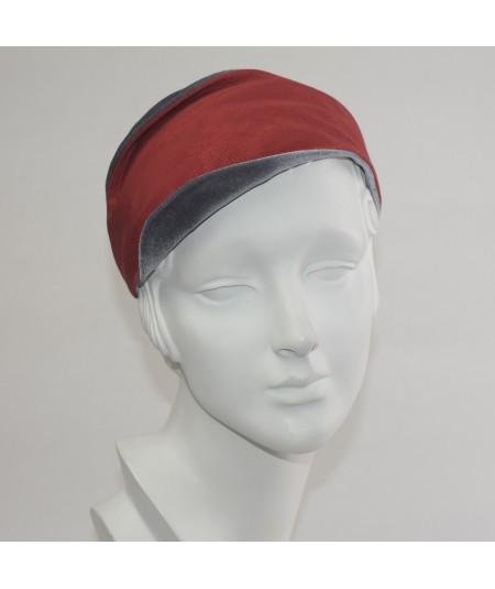 Red Bengaline & Grey Velvet Matisse