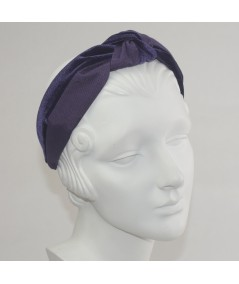 Plum Bengaline & Plum Velvet Center Turban Headband