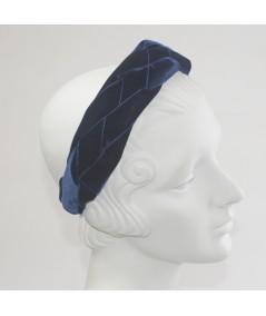 Navy Velvet Braided Ribbon Headband