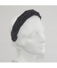 Black Velvet Braided Ribbon Headband