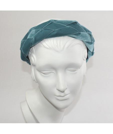 Williamsbur Blue Velvet Braided Ribbon Headband