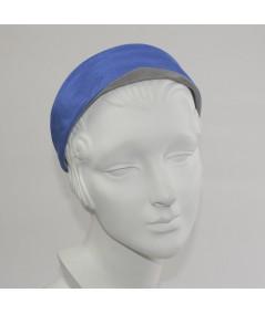 Black Purple bengaline-headband-with-contrast-trim