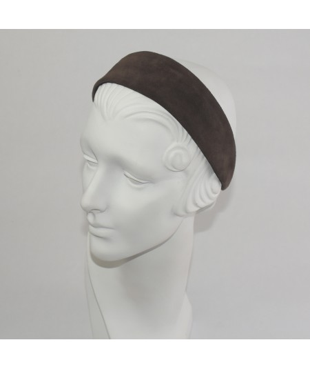 Espresso Suede Basic Wide Headband