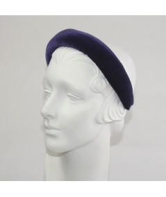 Navy Velvet Medium Padded Headband