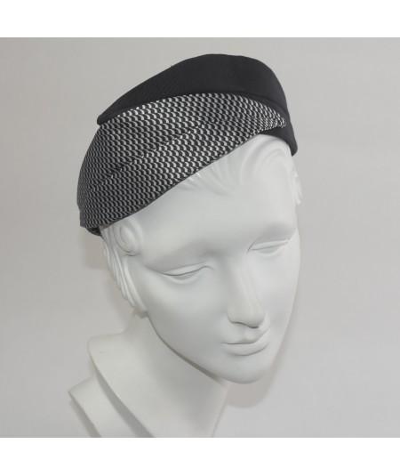 Grosgrain and Silk Print Double Leaves Headband