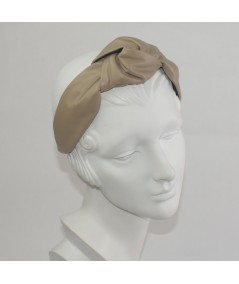 Wicker Leather Center Chunky Turban Headband