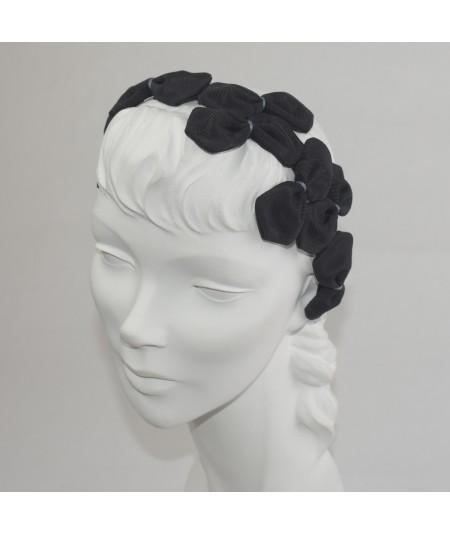 Black Bengaline Color Stitch Sabrina Headband