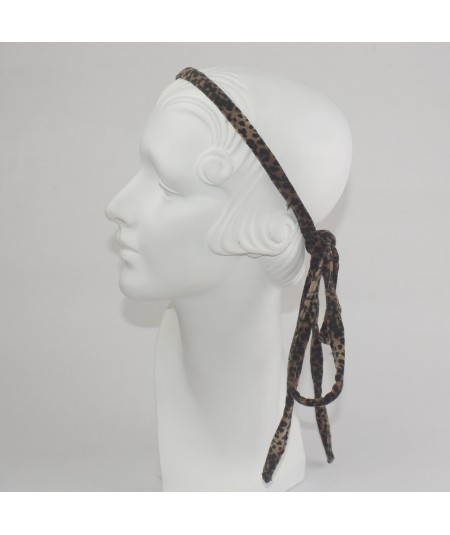 Leopard Print Long Tie Headband