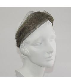 Gold Metallic Tulle Twist Headband