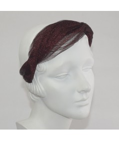 Red Metallic Tulle Twist Headband