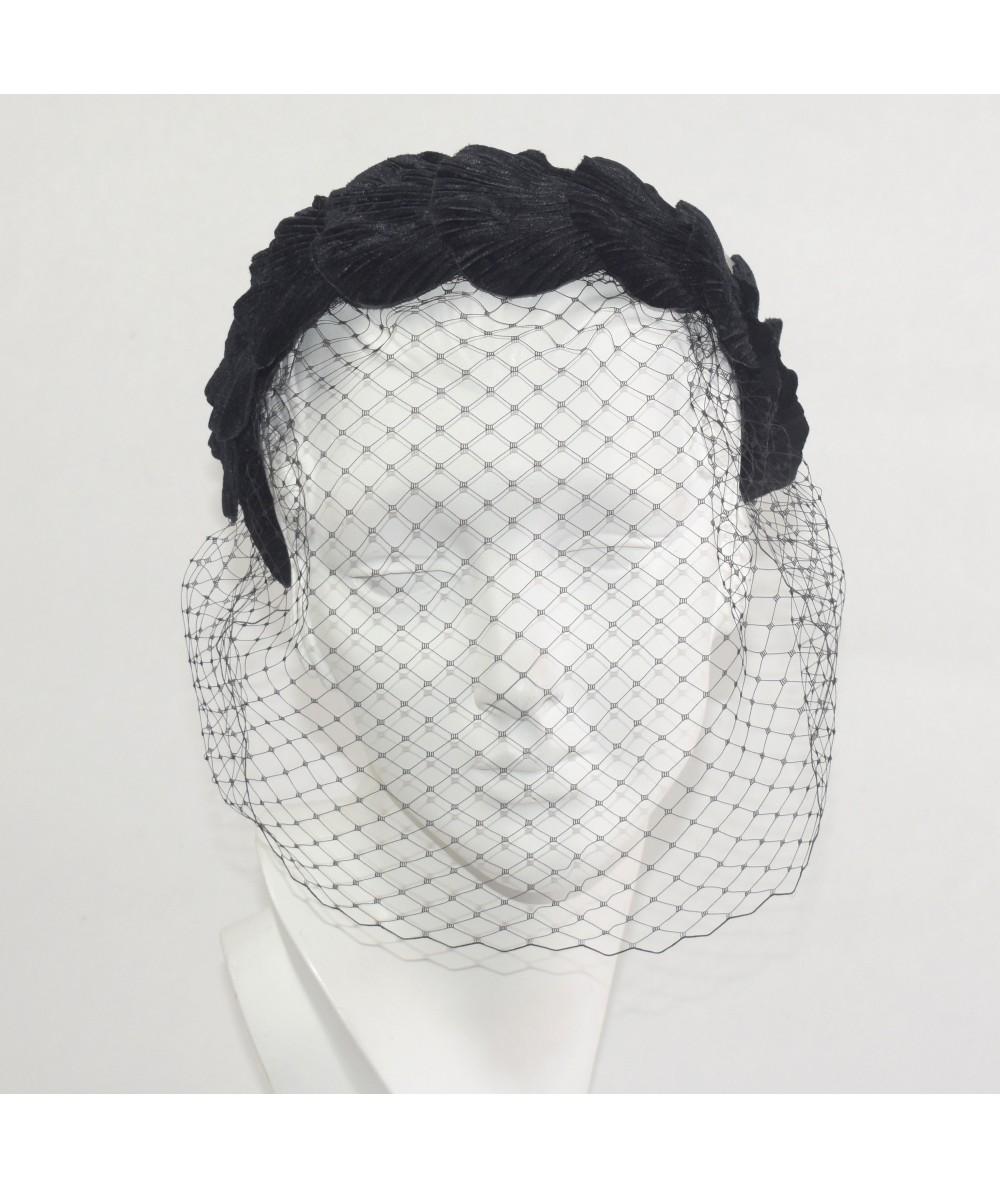 Velvet Leaves Covered Face Veil