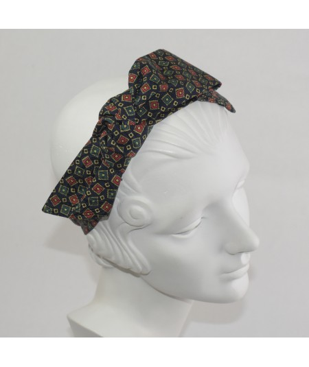 Gucci Silk Print Side Bow Headband