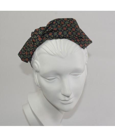 Gucci Silk Print Side Bow Headband