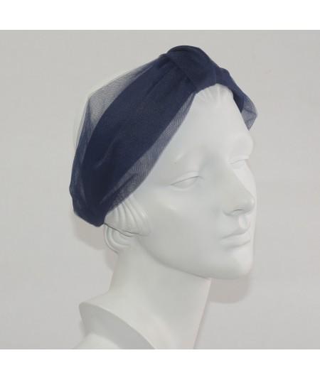 Navy headband turban