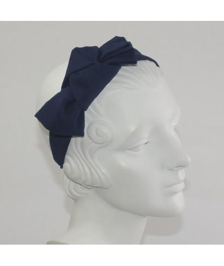 Silk Chiffon with Fortune Cookie Tie Headpiece