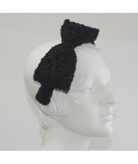 Large Side Bow Sparkle Boucle Headband
