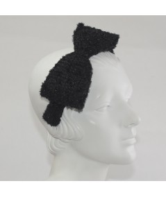Large Side Bow Sparkle Boucle Headband