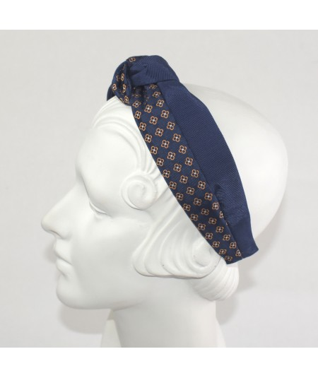 Bengaline with Silk Print Pedal Flower Headband
