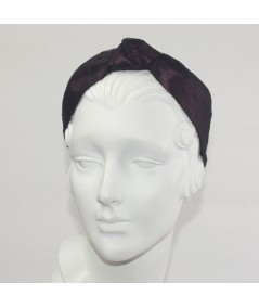Gun Metal With Black Dotted Tulle Harlow Headband