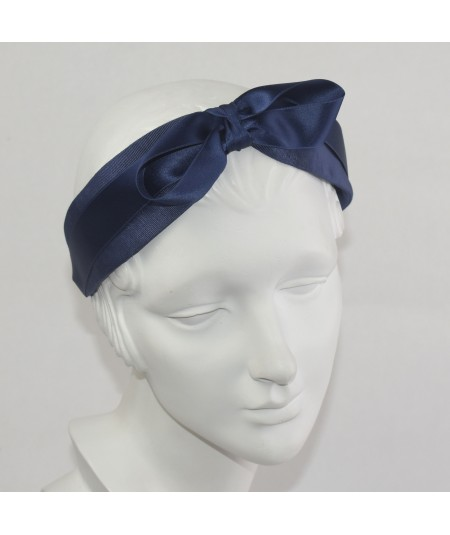 Black Grosgrain with Satin Bow Headband