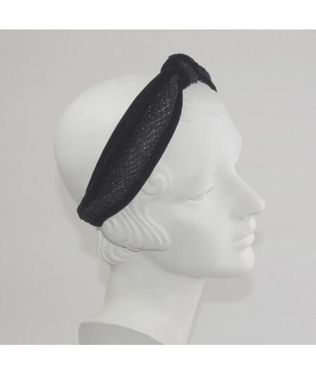 Winter Mesh Side Knot Turban Headband