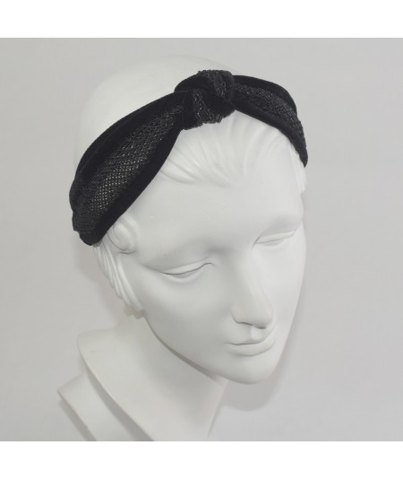 Winter Mesh Side Knot Turban Headband