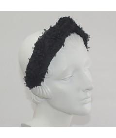 Black Roses Harlow Turban Headband