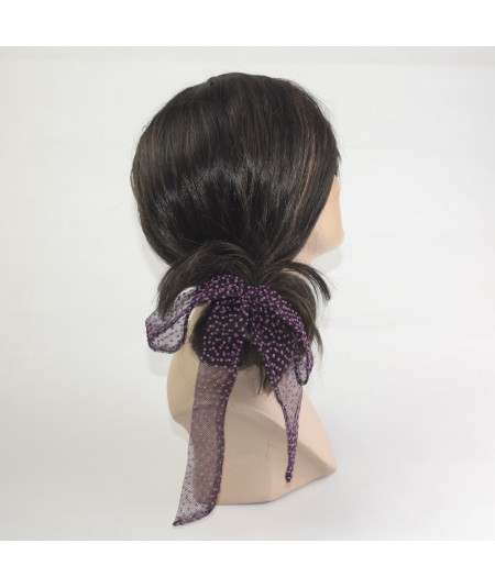 Black Bow ponytail holder hair elastic