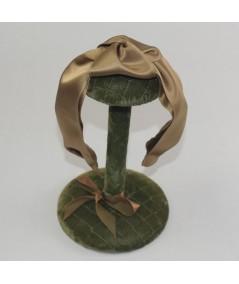 Sable Gold Satin Turban Headband