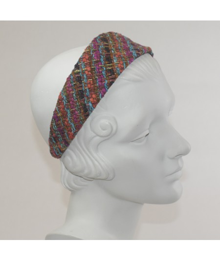 East Side Silk Print Extra Wide Headband