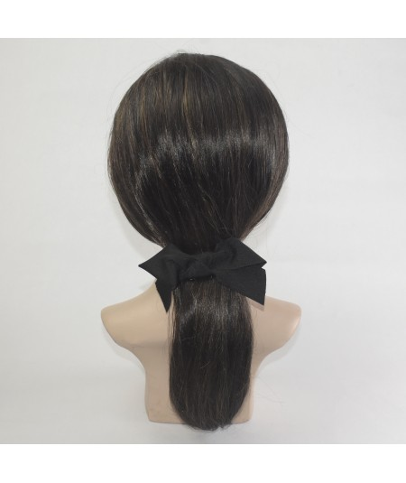 Black Grosgrain Bow Barrette