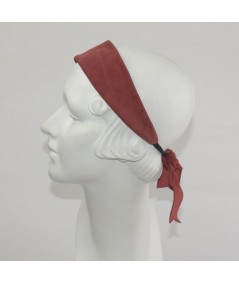 Suede Wide with Back Detail Elastic Headband