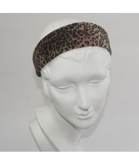 Leopard Vellvet Wide Headband