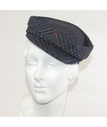 East Side Silk Print Cap Fascinator