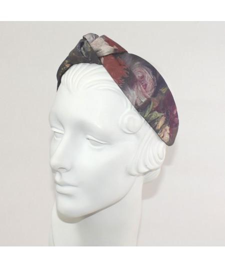 Renaissance Silk Print Center Turban