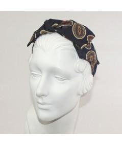 Paisely Silk Print Side Bow Headband