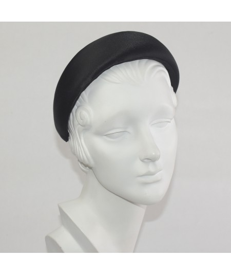 Black Satin Wide Padded Headband