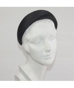 Black Satin Wide Padded Headband
