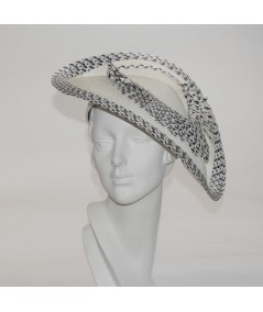 Straw Coolie with Two Toned Frayed Detail and Edge