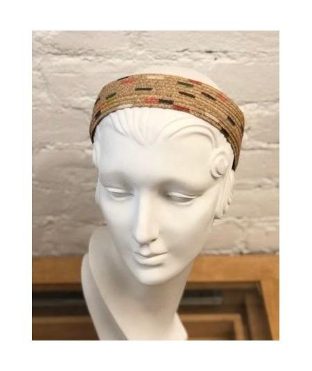 Medium Wide Hand Painted Basic Straw Headband