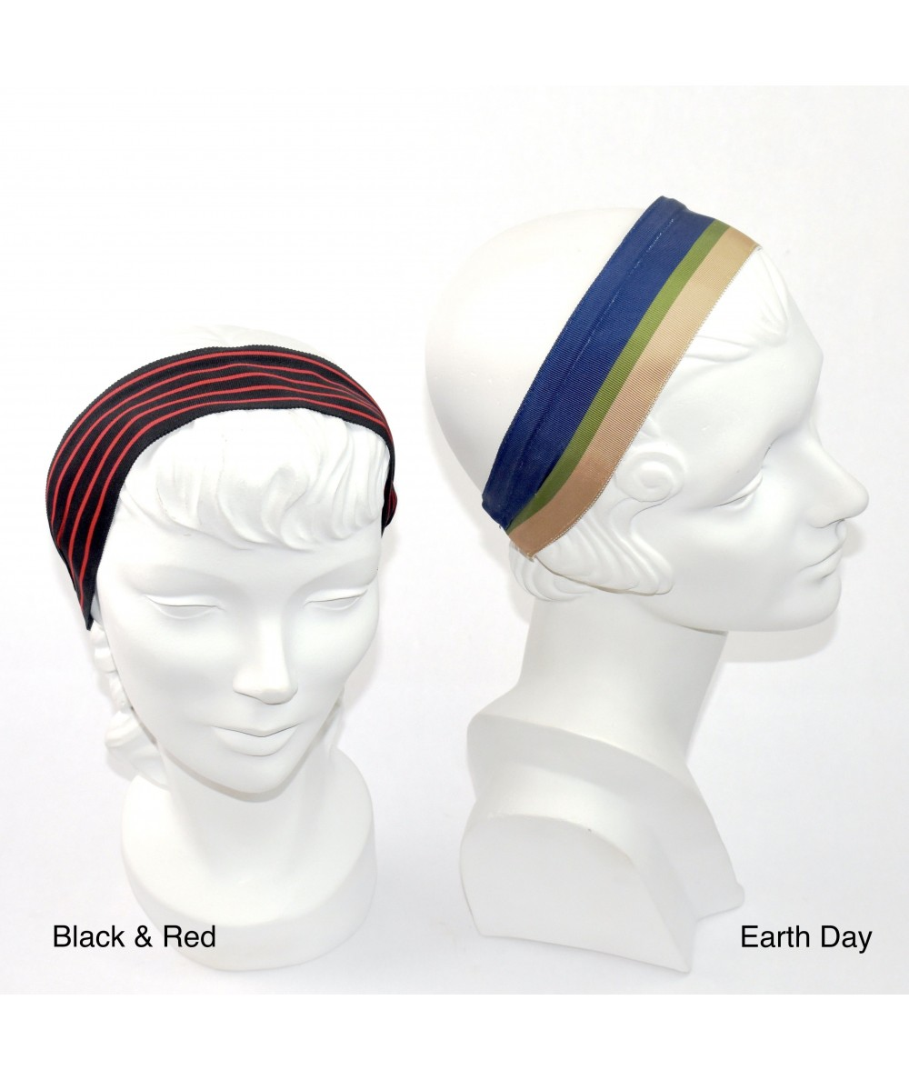 Jennifer Ouellette Retro Stripe Headband - Black & Red, Earth Day