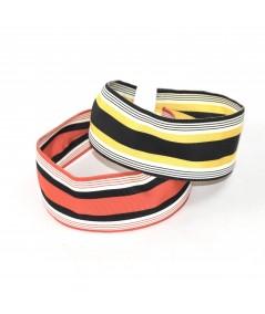 Jennifer Ouellette Retro Stripe Headband - Fire & Black, Bumble Bee