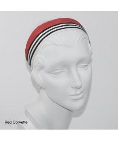 Jennifer Ouellette Retro Stripe Headband - Red Corvette