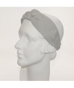 Grey Classic Extra Wide Grosgrain Turban Headband