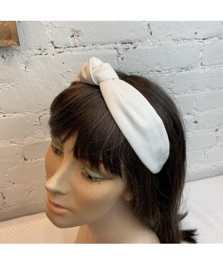 Ivory Cotton Twill Harlow Turban Headband