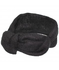 Wrapped Knit Turban Head Wrap Black