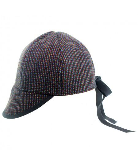 ht392-wool-tweed-baseball-cap-with-grosgrain-tie
